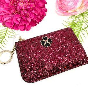 KATE SPADE⚜️Black Cherry Glitter Card Holder - $99